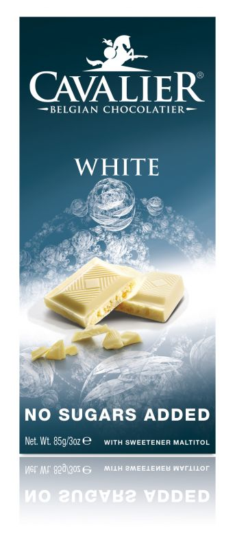 Cavalier White Chocolate No Added Sugar Bar 85g x 14