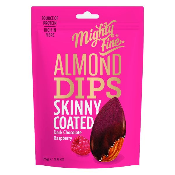 Dark Chocolate & Raspberry Almond Dips 75g x 12