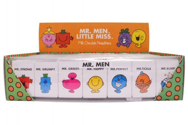 Mr Men - Milk Chocolate Neapolitans, 7 Naps Stick Pack 59.5 g x 16