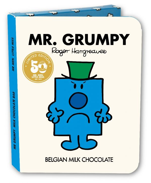 Mr Grumpy Milk Chocolate Bar Book 85g x 16