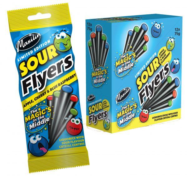 Super Sours Flyers 90g x 12