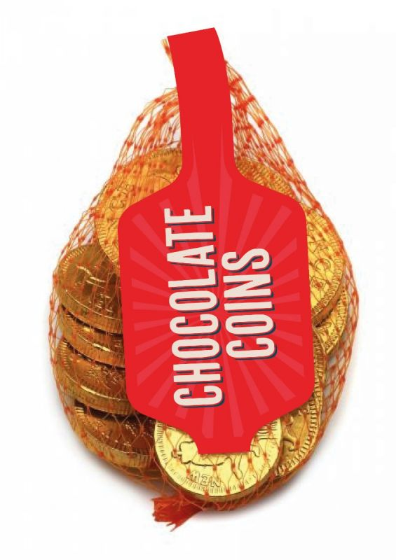 Gold Net of Milk Chocolate Coins (English currency) 50g x 100