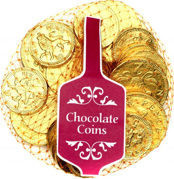 Gold Net of Milk Chocolate Coins (English currency) 100g x 36
