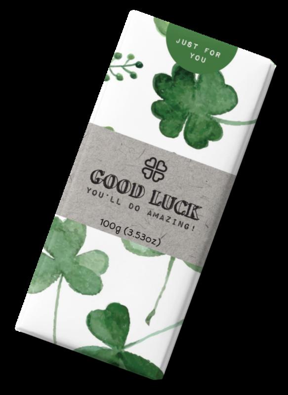 Message Bar - Good Luck Milk Chocolate Bar 100g x 12