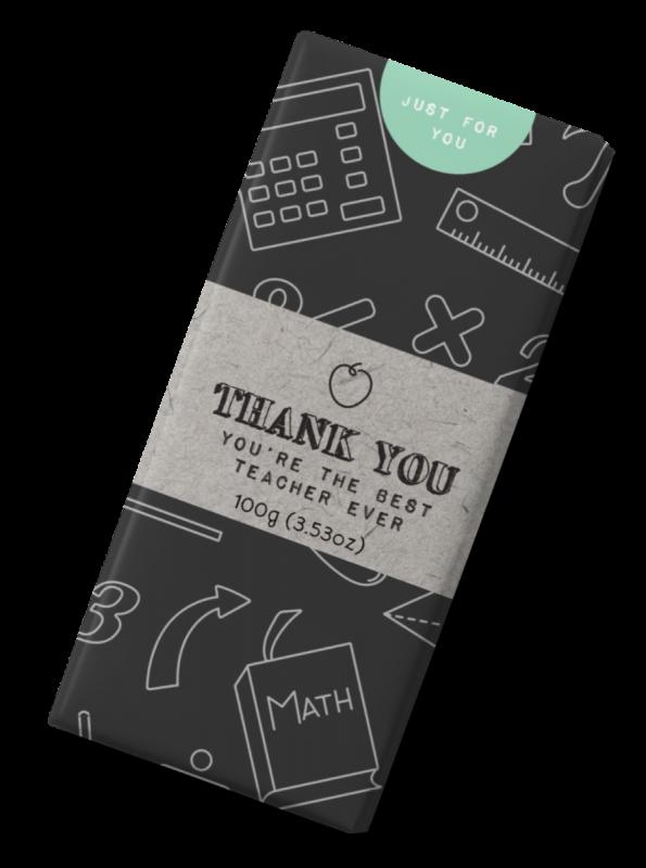 Thank You Teacher Milk Chocolate Bar 100g x 12