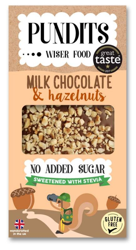 Milk Chocolate Bar - Roasted Hazelnuts  100g x 12 DATED 31.03.2021