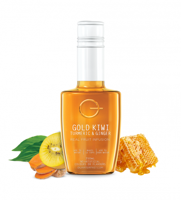 Gold Kiwi Turmeric & Ginger Real Fruit Infusion 250ml x 8