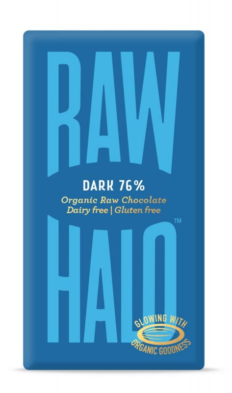 Pure Dark Organic Raw Chocolate Bar 76% 35g x 10