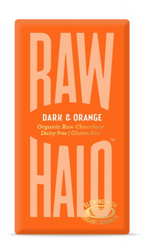 Dark & Sweet Orange Organic Raw Chocolate Bar 35g x 10