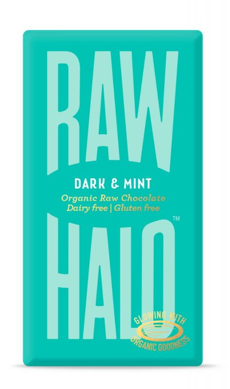 Dark & Mint Organic Raw Chocolate Bar 35g x 10