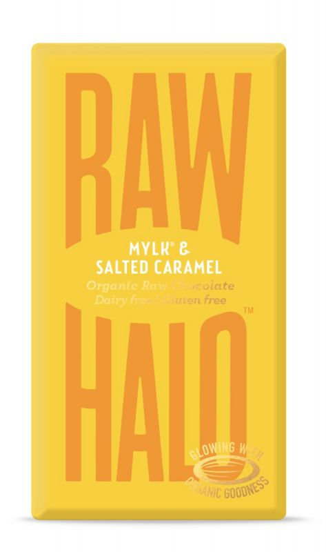 Mylk & Salted Caramel Organic Raw Chocolate Bar 35g x 10