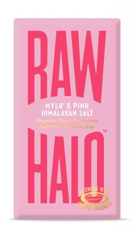 Mylk & Pink Himalayan Salt Organic Raw Chocolate Bar 35g x 10