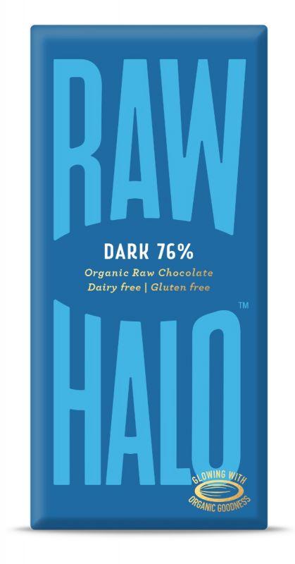 Pure Dark Organic Raw Chocolate Bar 76% 70g x 10