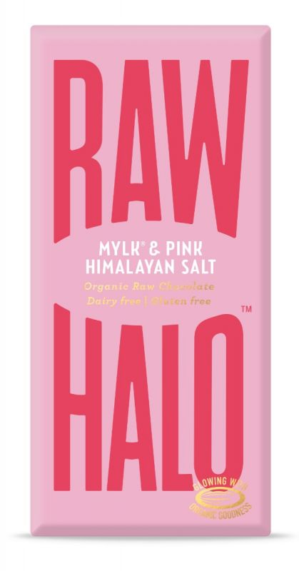 Mylk & Pink Himalayan Salt Organic Raw Chocolate Bar 70g x 10