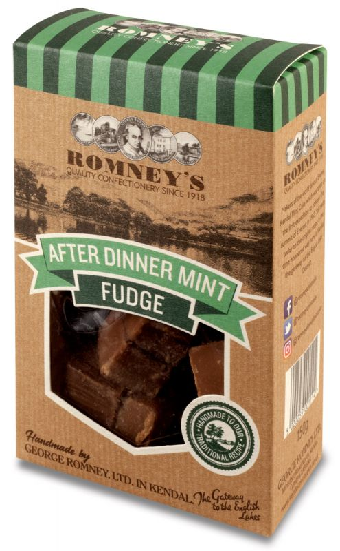 Romneys After Dinner Mint Fudge 150g x 9