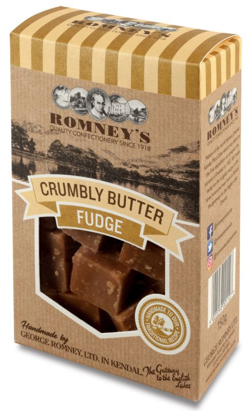 Romneys Crumbly Butter Fudge 150g x 9