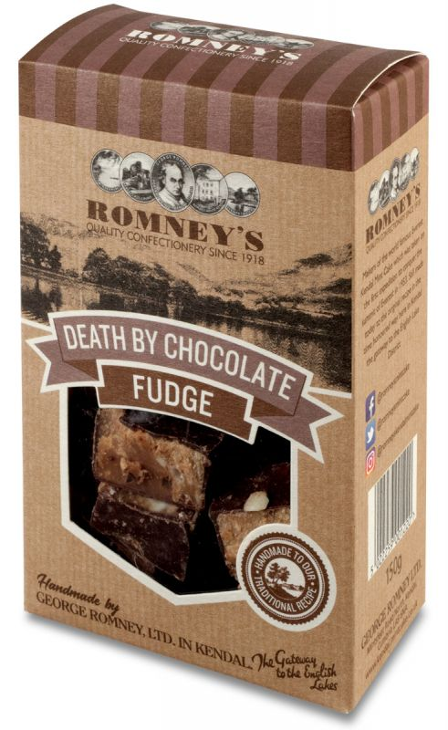 Romneys Death by Chocolate Fudge 150g x 9