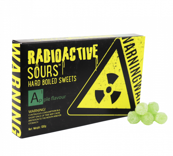 Radioactive Sours Theatre Box - Apple 100g x 12