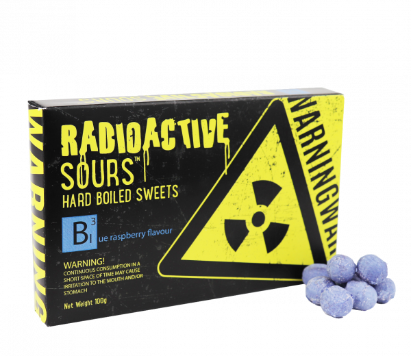 Radioactive Sours Theatre Box - Blue Raspberry 100g x 12
