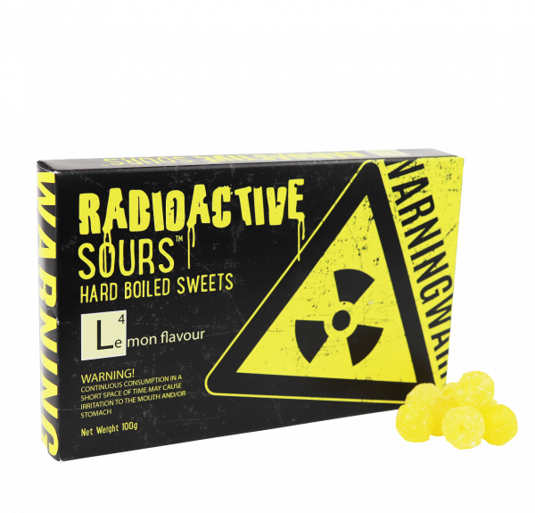 Radioactive Sours Theatre Box - Lemon 100g x 12