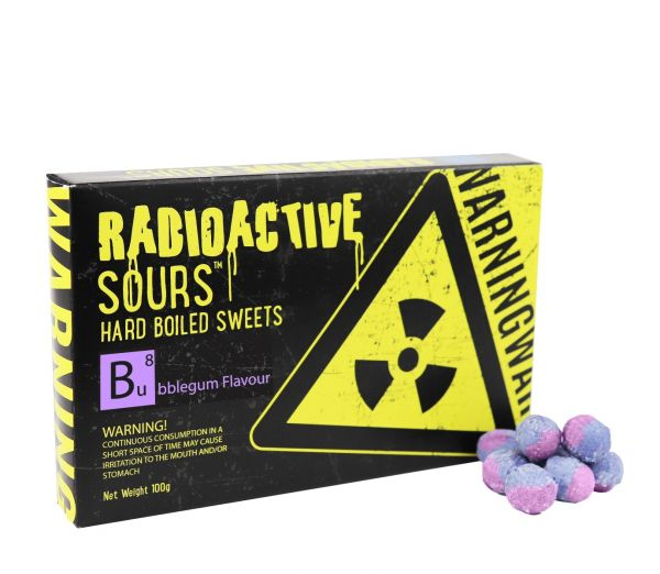 Radioactive Sours Theatre Box - Bubblegum 100g x 12