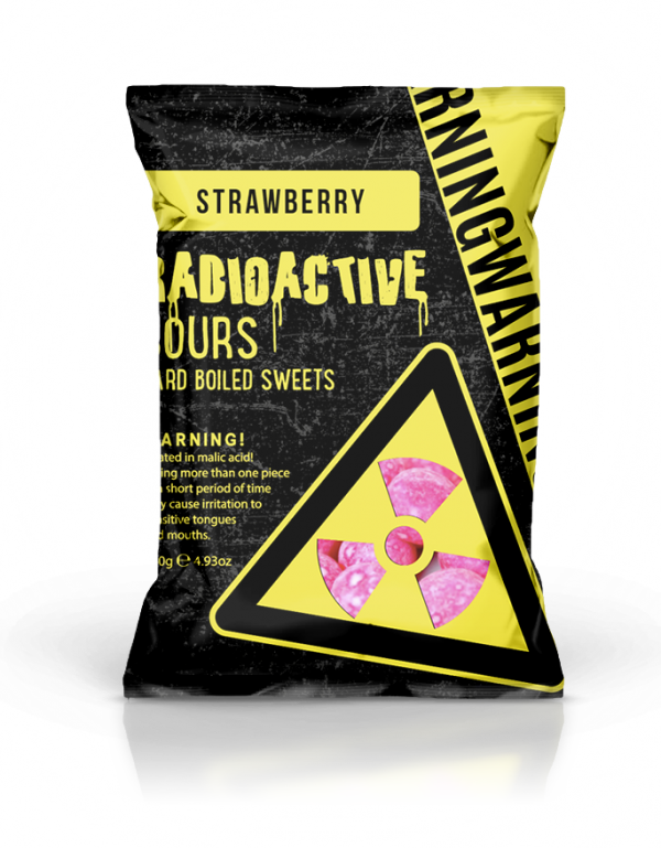 Radioactive Sours Hang Bag  - Strawberry 140g x 12