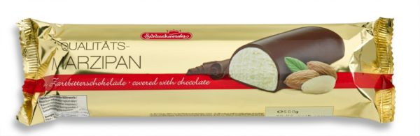 Dark Chocolate Covered Marzipan Bars (23cm x 7cm x 3cm) 500g x 6