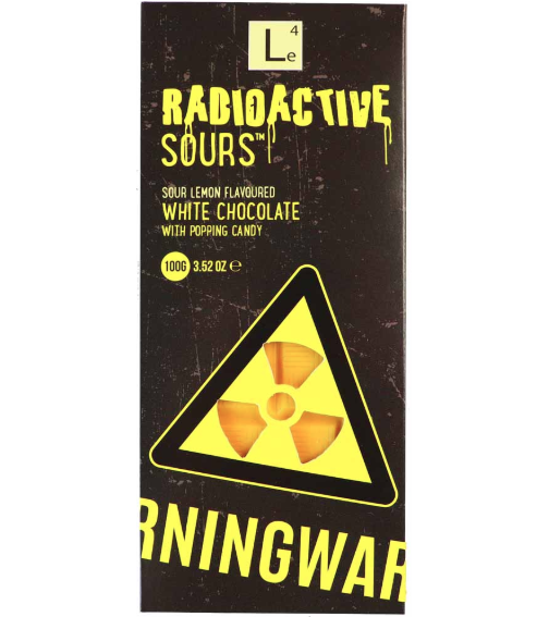 Radioactive Sours Chocolate Bar - Lemon 100g x 24