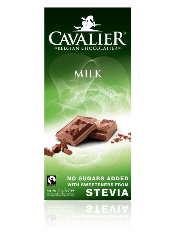 Cavalier Stevia Milk Chocolate Bar 85g x 14