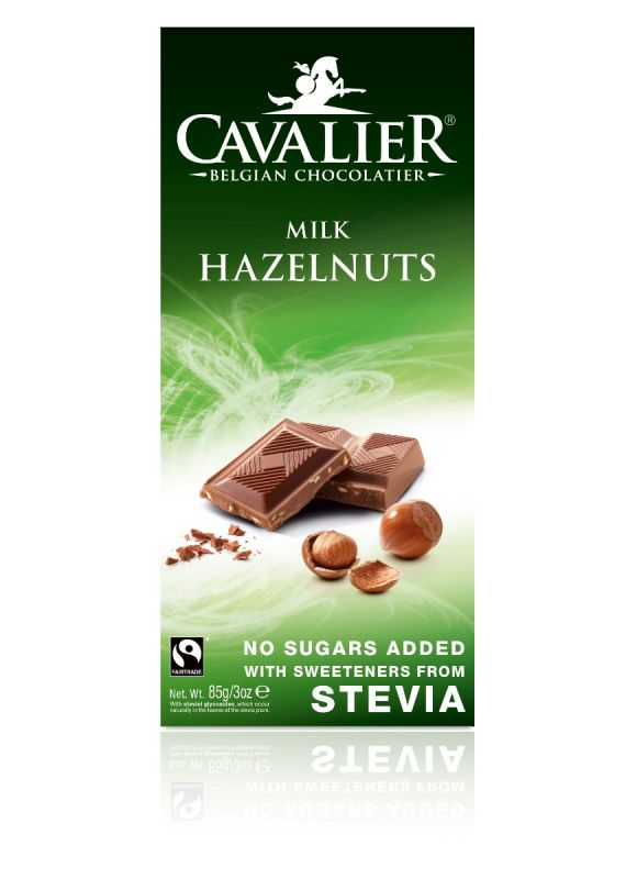 Cavalier Stevia Milk Chocolate Hazelnut Bar 85g x 14