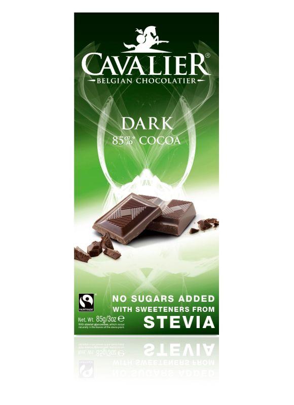 Cavalier Stevia Dark Chocolate Bar 85g x 14