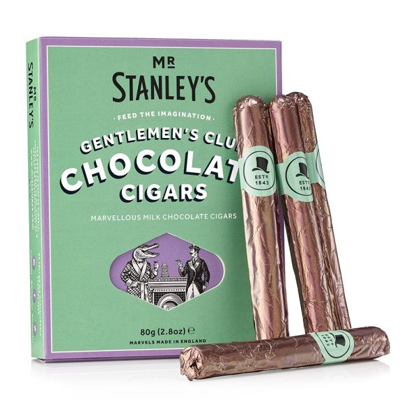 Gentlemen's Club Milk Chocolate Cigars 80g x 6