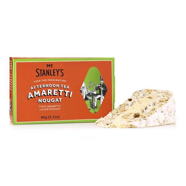 Amaretti Nougat Slice ( Classic Nougat with Amaretto Filling & Amaretti Pieces) 90g x 16 DATED 30.03