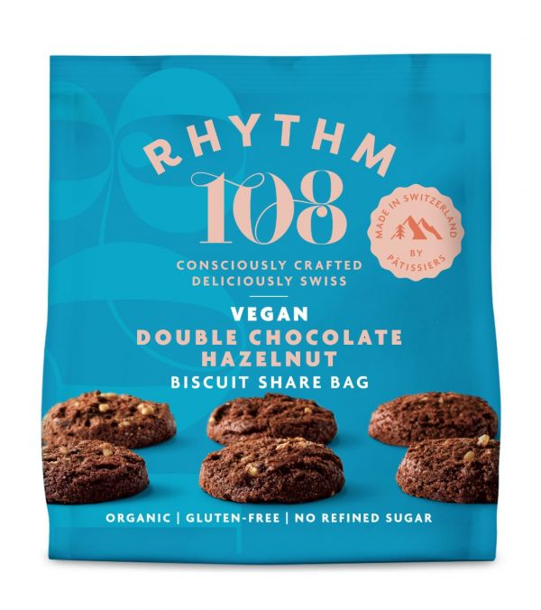 Sharing Biscuit Bag - Double Chocolate Hazelnut 135g x 12