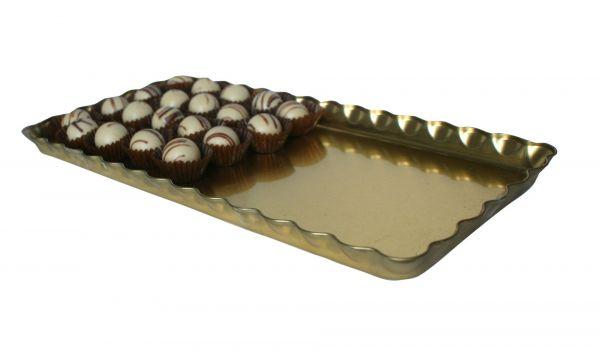 Gold Trays 37 X 18.5 X 2 cm