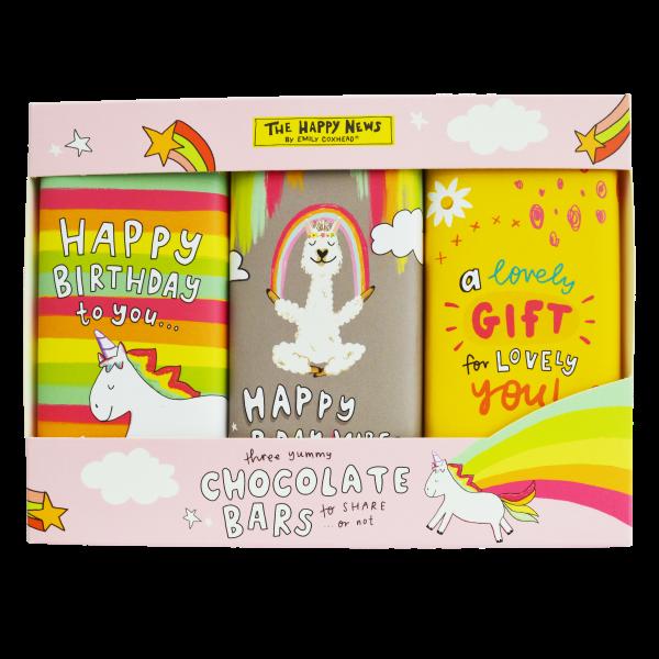 Happy News - Happy Birthday Trio Bar Gift Pack 300g x 12