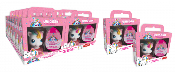Unicorn - Giftset (Surprise Egg & Sticker Dispenser) 10g x 12