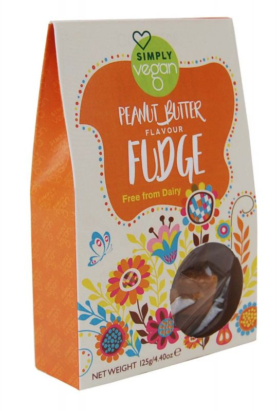 Simply Vegan Peanut Butter Fudge 125g x 12