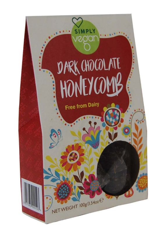 Simply Vegan Dark Chocolate Honeycomb 100g x 12