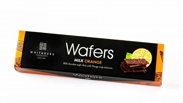 Milk Chocolate Orange Wafers 175g x 12, Fairtrade