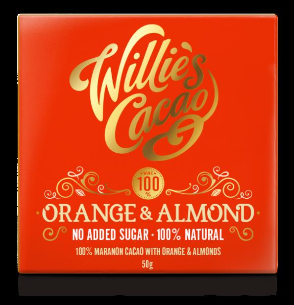 ORANGE & ALMOND 100% Rio Maranon cacao with orange and almond 50g x 12