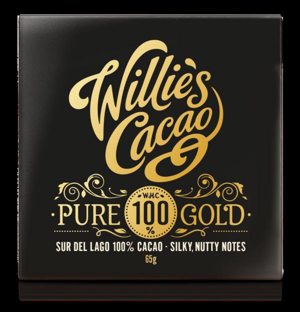 PURE 100% GOLD Venezuelan Sur del Lago 100% cacao, silky nutty notes 50g x 12