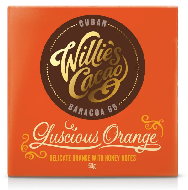 LUSCIOUS ORANGE Cuban 65 dark chocolate with orange 50g x 12