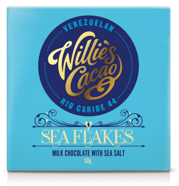 SEA FLAKES Rio Caribe 44 milk chocolate with sea salt 50g x 12