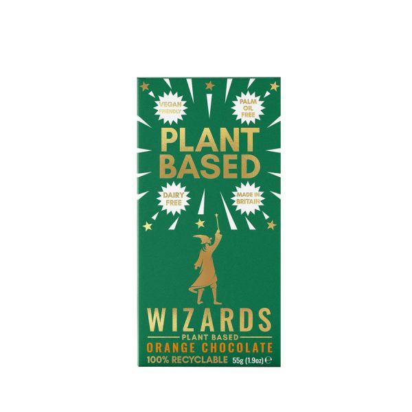 Wizard Plant Based Orange Chocolate 55 x 12