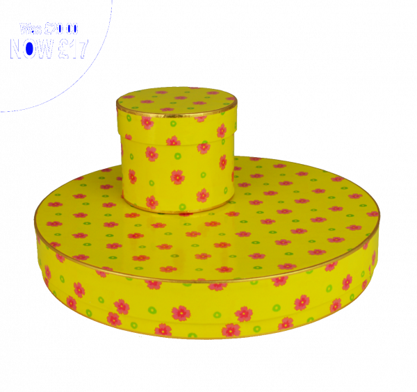 Yellow Floral Round Single Layer 500g x 10 35mm high